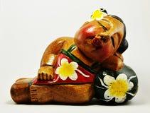 Recuerdo de madera de la mujer Imagen de archivo libre de regalías