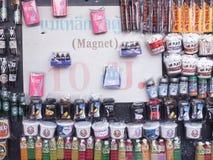 Recuerdo del imán en mercado del chatuchak Imágenes de archivo libres de regalías