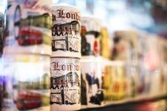 Recuerdo del regalo de la taza de Londres Fotos de archivo libres de regalías