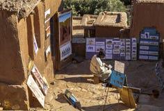Recuerdo en Ksar de AIT-Ben-Haddou, Moroccco Fotos de archivo