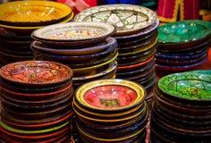 Recuerdos de cerámica marroquíes Imágenes de archivo libres de regalías