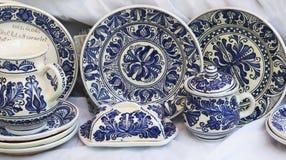 Recuerdos de cerámica y tradicionales adornados Fotografía de archivo libre de regalías