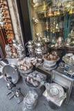Recuerdos de cobre turcos, artículos hechos a mano del hogar Foto de archivo