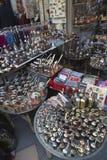 Recuerdos de cobre turcos, artículos hechos a mano del hogar Fotografía de archivo