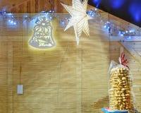 Recuerdos de la comida en el mercado de la Navidad de Vilna Imagen de archivo