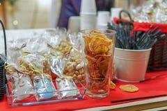 Recuerdos de la comida en el mercado de la Navidad de Vilna Foto de archivo