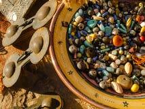 Recuerdos de las compras en Marruecos fotografía de archivo libre de regalías
