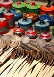 Recuerdos de madera Imagen de archivo libre de regalías