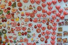 Recuerdos de Zagreb en Advent Fair en Zagreb Fotos de archivo libres de regalías
