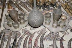 Recuerdos locales tradicionales en Jordania, Oriente Medio Fotografía de archivo