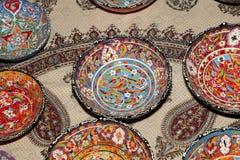 Recuerdos locales tradicionales en Jordania, Oriente Medio Fotografía de archivo libre de regalías
