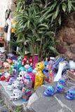 Recuerdos mexicanos de los esqueletos de los cráneos, día de dias de los muertos de la muerte muerta fotografía de archivo libre de regalías