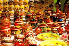 Recuerdos rusos Imagen de archivo libre de regalías