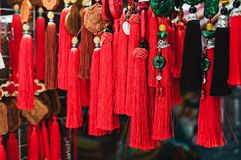 Recuerdos tradicionales coloridos en mercado de China Fotos de archivo libres de regalías
