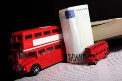 Recuerdos y eurobanknote BRITÁNICOS Fotografía de archivo