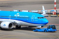 Recul de KLM Boeing 737 Images stock