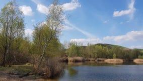 Recultivated landskap på de Arkenberge kullarna i Berlin i spri royaltyfria bilder
