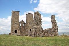 Reculver古老罗马城堡堡垒 免版税库存图片