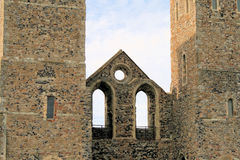 Reculver. Ruined Reculver church in Kent Royalty Free Stock Images