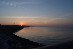 Reculver Bay. This photo shows Reculver bay at sunset Royalty Free Stock Images