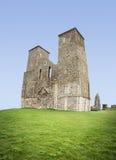 Reculver domine la baie romaine de Herne de fort Photos stock