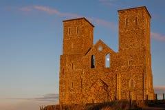 RECULVER, ENGLAND/UK - 10 DICEMBRE: Resti della chiesa di Reculver Fotografia Stock