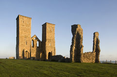 Reculver Roman Ruin. At sunrise in Reculver Kent England Stock Photography