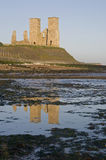Reculver Roman Ruin. At sunrise in Reculver Kent England Royalty Free Stock Image