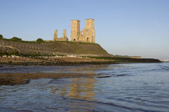 Reculver Roman Ruin. At sunrise in Reculver Kent England Stock Photos