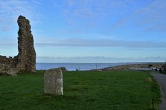 Reculver Tower. The remains of a Roman fort on the Kent coast Royalty Free Stock Photo