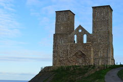 Reculver Tower. The remains of a Roman fort on the Kent coast Stock Images