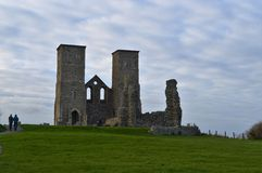 Reculver Tower. The remains of a Roman fort on the Kent coast Royalty Free Stock Photography