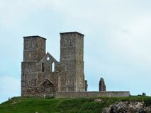 Reculver Tower. The ruins of Reculver Towers along the Kent coast Stock Photography
