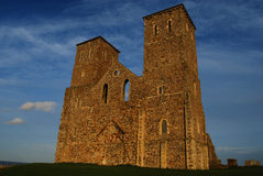 Reculver Towers. View of Reculver Towers at Reculver, Kent, England Royalty Free Stock Photography