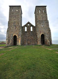 Reculver towers kent. Reculver ancient roman monument kent Royalty Free Stock Image