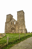 Reculver Towers, Kent. Reculver Towers the twin 12th-century towers of the ruined church which stand among the remains of an Roman 'Saxon Shore' fort and a Saxon Royalty Free Stock Images