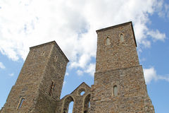 Reculver Towers. This photo shows the twin towers at Reculver Royalty Free Stock Photos