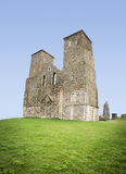 Reculver towers roman fort herne bay kent Stock Photos