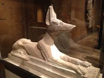 Recumbent Anubis Statue in Metropolitan Museum of Art. Royalty Free Stock Images