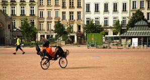 Recumbent bicycle Stock Image