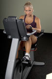 Recumbent Exercise Bike Royalty Free Stock Images