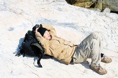 Recumbent hiker Royalty Free Stock Photos