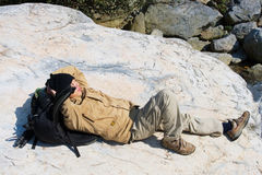 Recumbent hiker Royalty Free Stock Photography