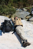 Recumbent hiker Stock Images