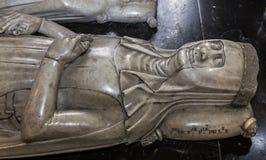 Recumbent statue in  basilica of saint-denis,  France Stock Images