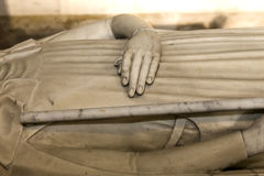 Recumbent statue in  basilica of saint-denis,  France Stock Photography