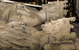Recumbent statue in  basilica of saint-denis,  France Stock Photos