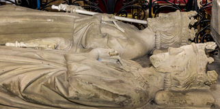 Recumbent statue in  basilica of saint-denis,  France Royalty Free Stock Photos