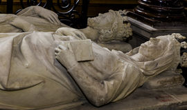 Recumbent statue in  basilica of saint-denis,  France Royalty Free Stock Photography