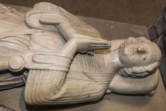 Recumbent statue in  basilica of saint-denis,  France Royalty Free Stock Photo